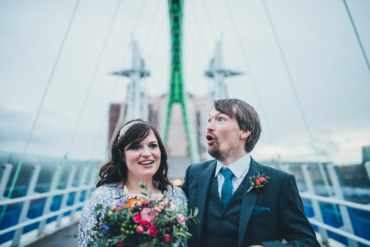 Wedding fun at The Lowry By Nicola Thompson Photography