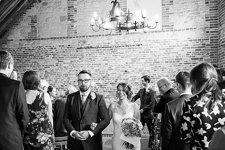 Manor Barn just married in Petersfield Wedding By Fiona Kelly Photography