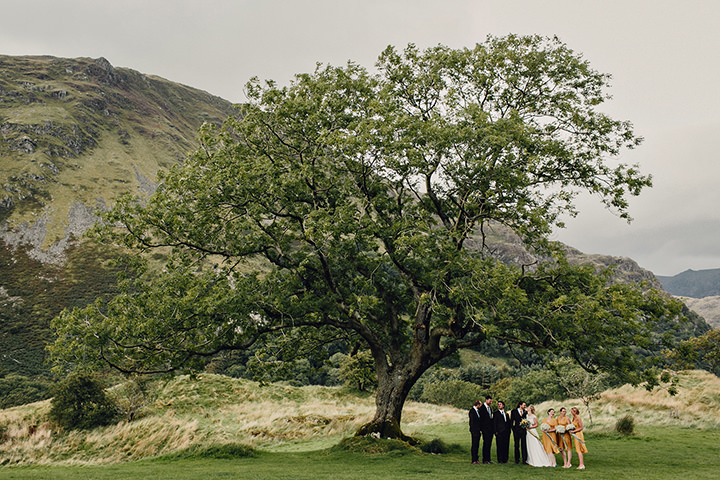 Barn Wedding bridal party in North Wales By Taylor Roades Photography