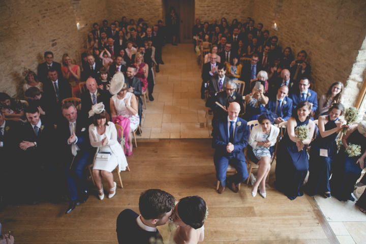 Cotswolds Barn Wedding just married By Claire Basiuk Photography