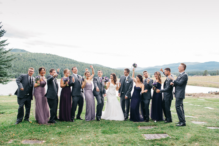 Colorado Barn Wedding bridal party By Searching For The Light