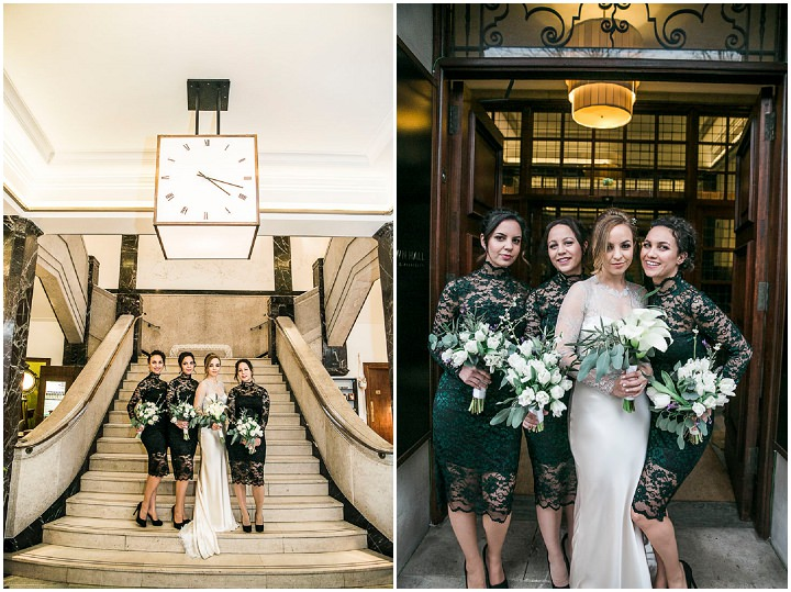 Wedding bridal party at Bethnal Green Town Hall Hotel By Samie Lee Photography