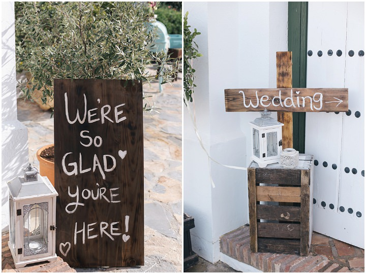 Whimsical Woodland Spanish Wedding sign By Radka Horvath Photography