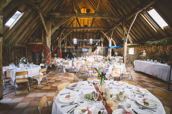 Emily and gopis hindu meets english country barn wedding by one kent barn wedding ceremony setting by one love pictures junglespirit Image collections