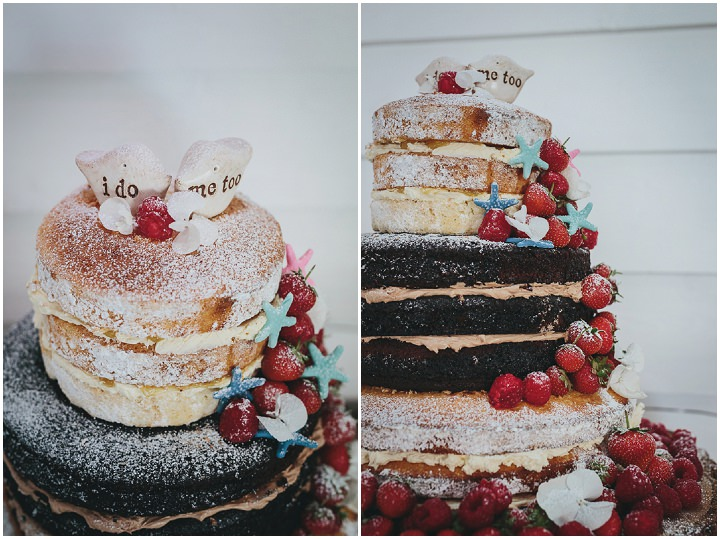 Wedding By Helen Lisk Photography at the fabulous Tunnels Beaches naked wedding cake