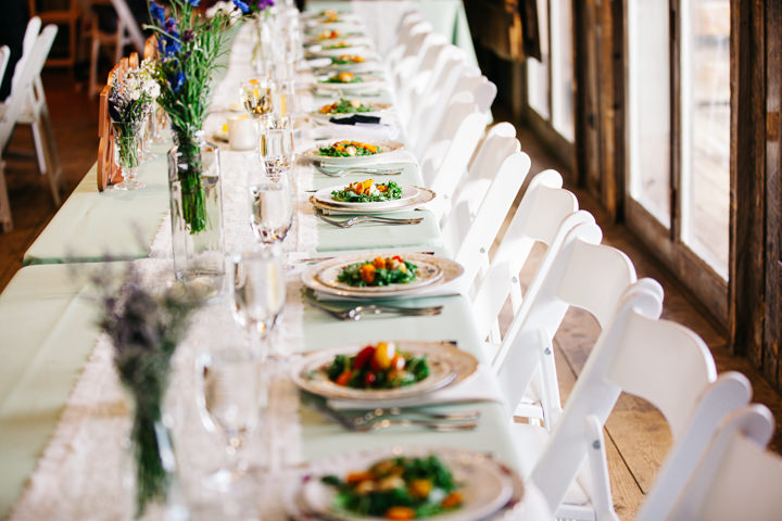 Colorado Barn Wedding food By Searching For The Light