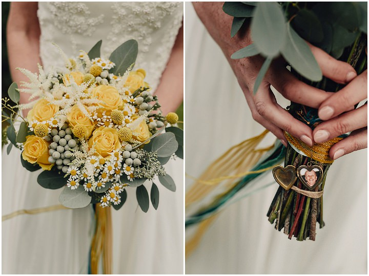 Barn Wedding bouquet in North Wales By Taylor Roades Photography