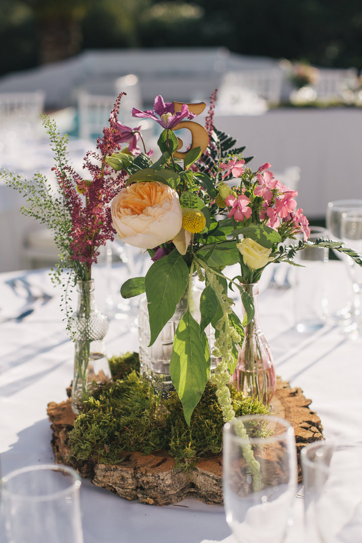 Whimsical Woodland Spanish Wedding table centre By Radka Horvath Photography