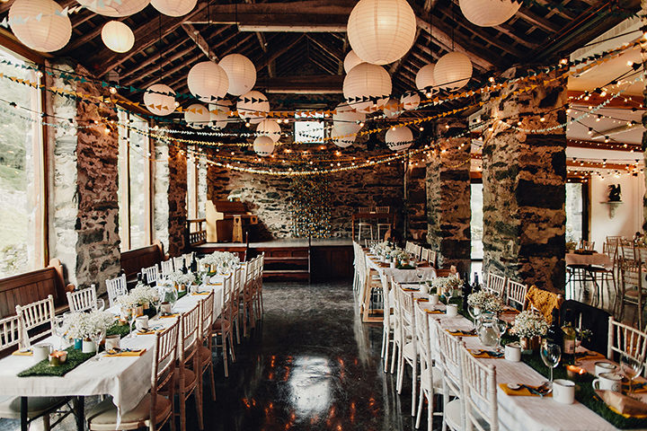 Barn Wedding reception in North Wales By Taylor Roades Photography