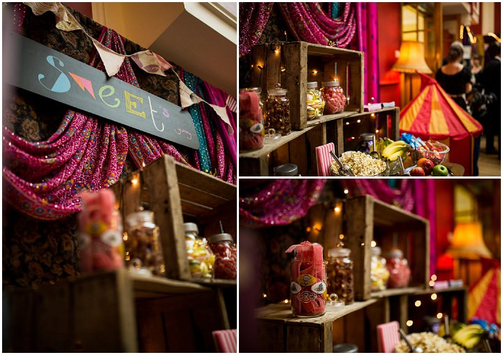 Fete Themed Wedding sweet table in Bakewell By Ayesha Photography