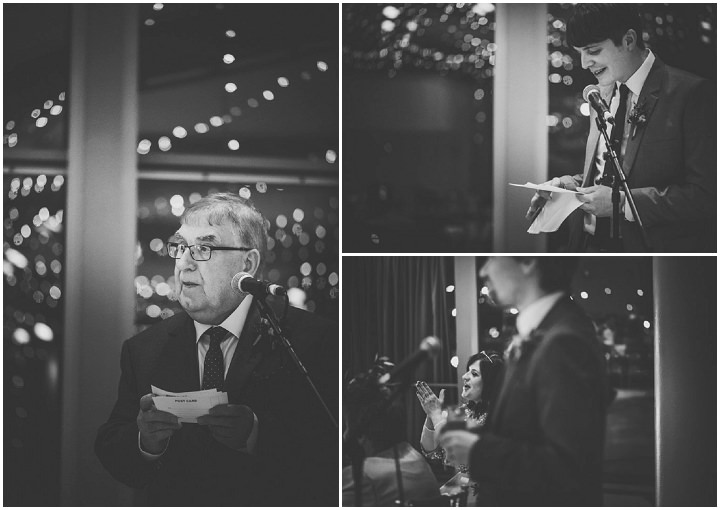 Wedding speches at The Lowry By Nicola Thompson Photography
