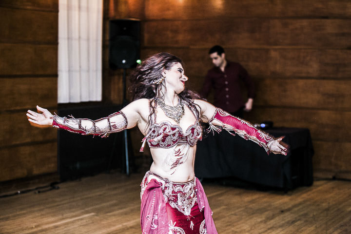 Wedding belly dancer at Bethnal Green Town Hall Hotel By Samie Lee Photography