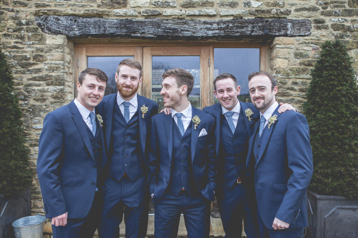 Cotswolds groomsmen Barn Wedding By Claire Basiuk Photography