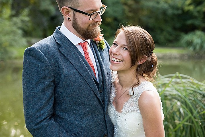 Manor Barn bride and groom in Petersfield Wedding By Fiona Kelly Photography