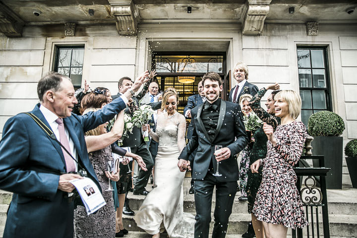 Wedding confetti at Bethnal Green Town Hall Hotel By Samie Lee Photography