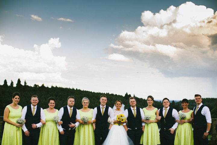Yellow Wedding bridal party with a Candy Anthony Dress