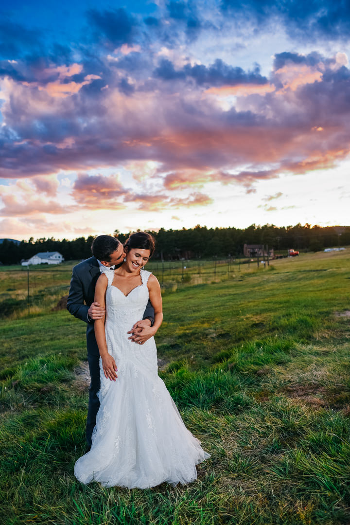 Colorado Barn Wedding sunset By Searching For The Light