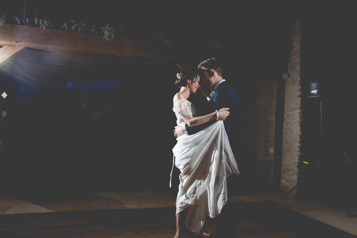 Cotswolds Barn Wedding first dance By Claire Basiuk Photography