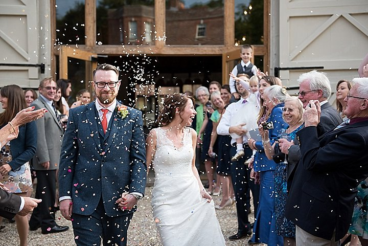 Manor Barn confetti in Petersfield Wedding By Fiona Kelly Photography
