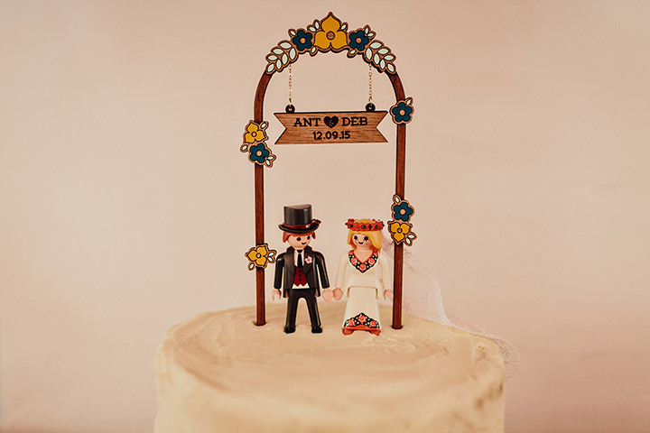 Barn Wedding Lego cake topper in North Wales By Taylor Roades Photography