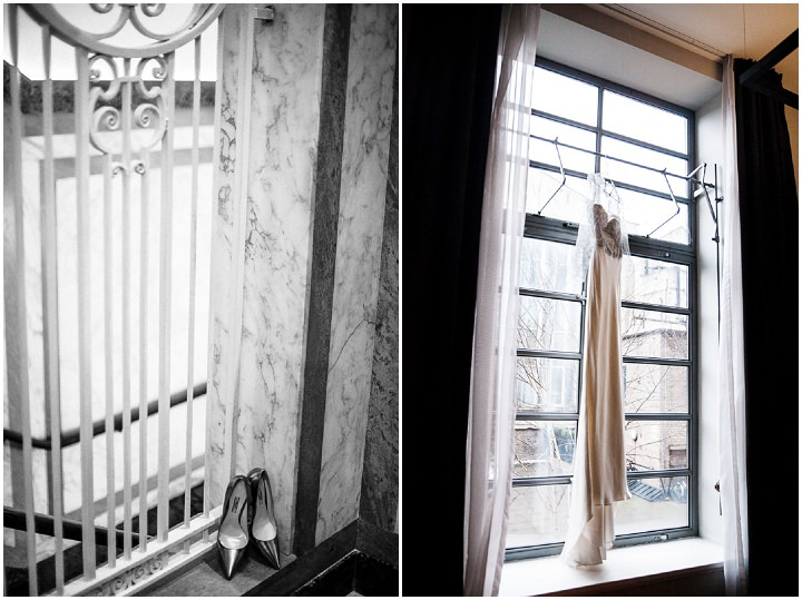 Wedding dress at Bethnal Green Town Hall Hotel By Samie Lee Photography