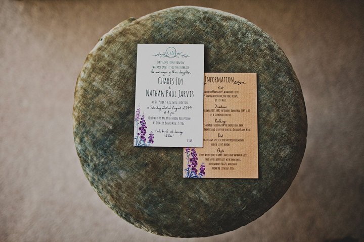 Wedding stationery at Quarry Bank Mill By Igor Demba Photography