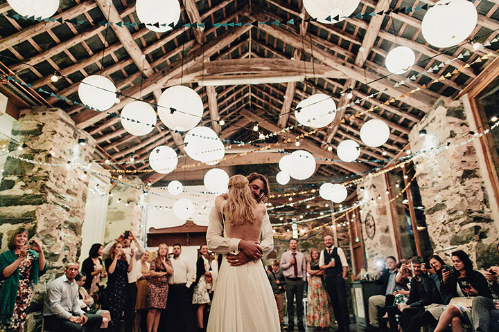 Barn Wedding first dance in North Wales By Taylor Roades Photography