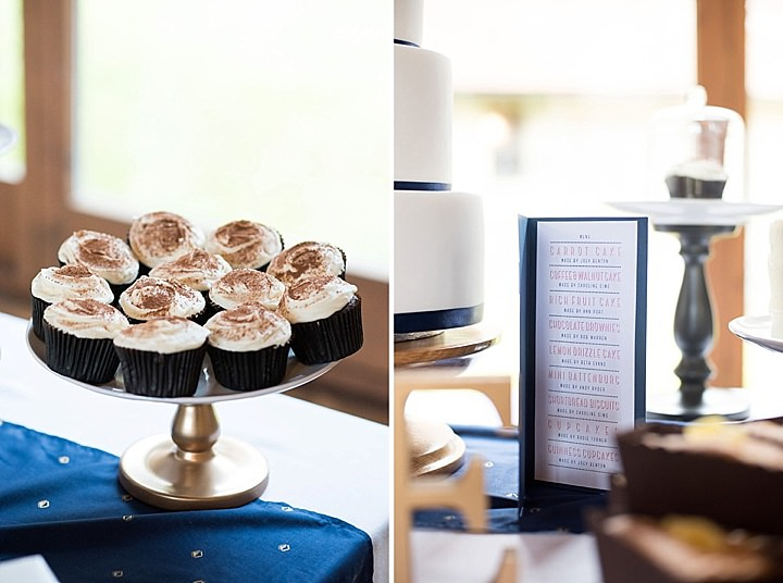 Manor Barn cake table in Petersfield Wedding By Fiona Kelly Photography