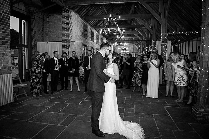 Manor Barn first dance in Petersfield Wedding By Fiona Kelly Photography