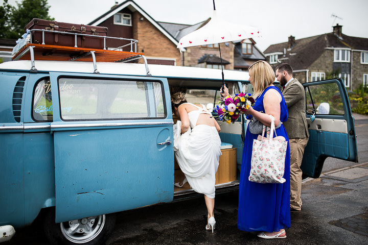 Fete Themed Wedding campervan in Bakewell By Ayesha Photography