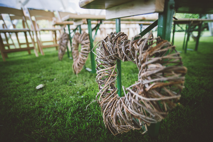 Kent Barn Wedding wicker heart By One Love Pictures