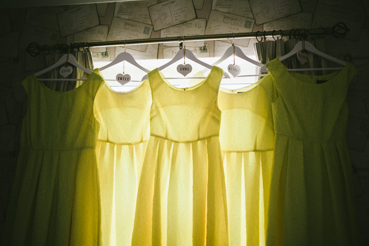 Yellow Wedding dress with a Candy Anthony Dress