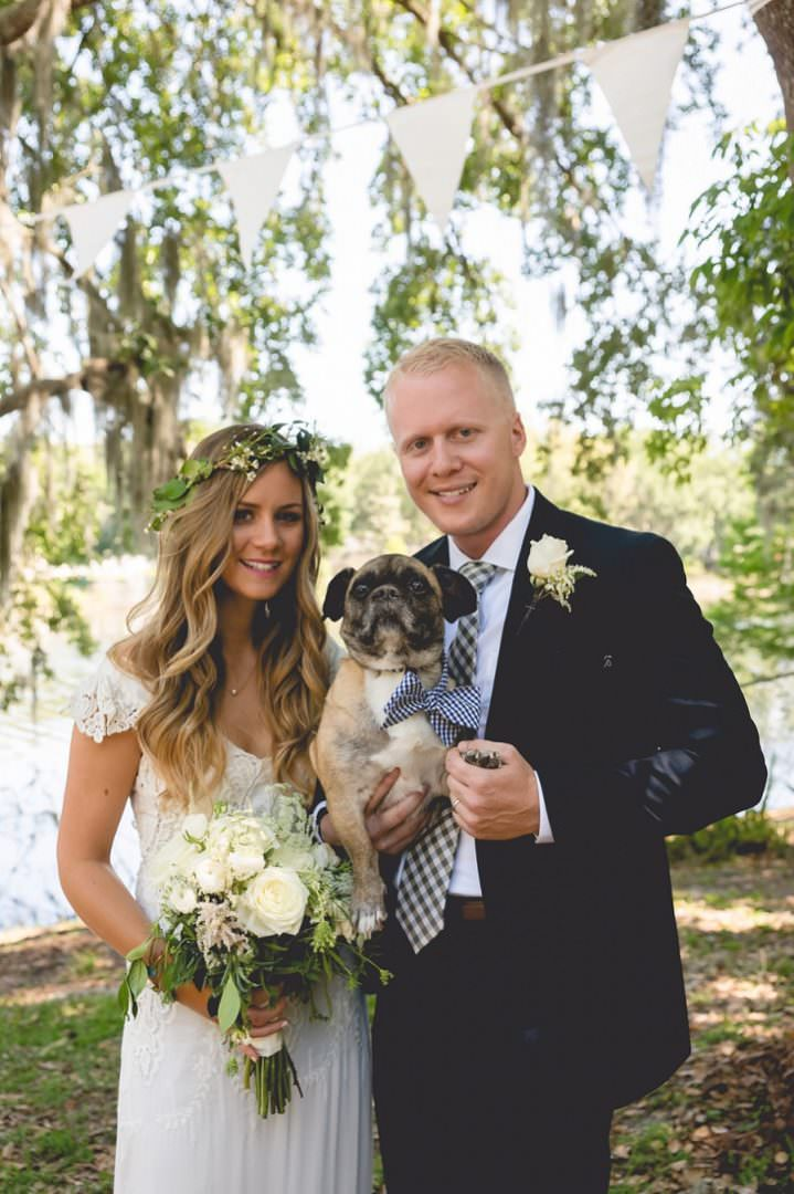 Georgina and Sean's Backyard Florida Wedding with a BHLDN Dress, By Dandy Details Events