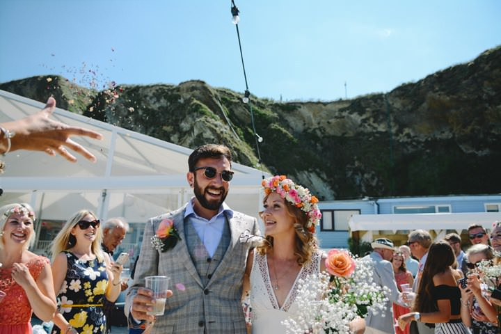 1-Sundrenched-Wedding-at-The-Lusty-Glaze-in-Newquay-By-James-Evans-Photography