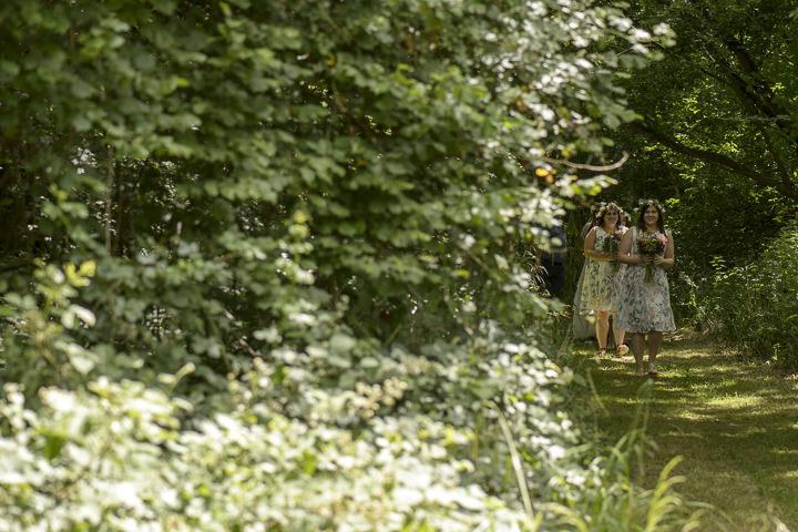 Bohemain Handfasting Wedding bridesmaids By Kit Fraser Photography