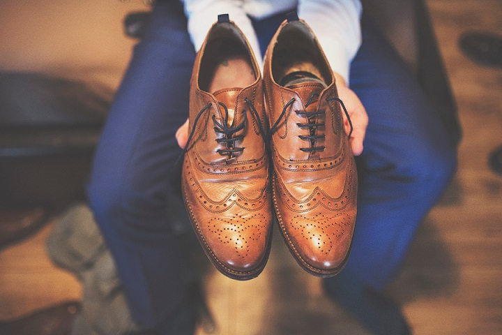 Styal Lodge Wedding groom shoes in Cheshire By On Love and Photography