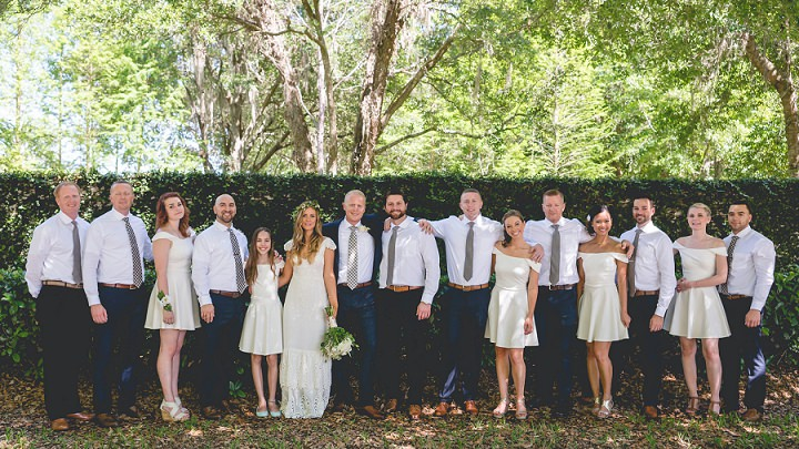 15 Backyard Florida Wedding with a BHLDN Dress