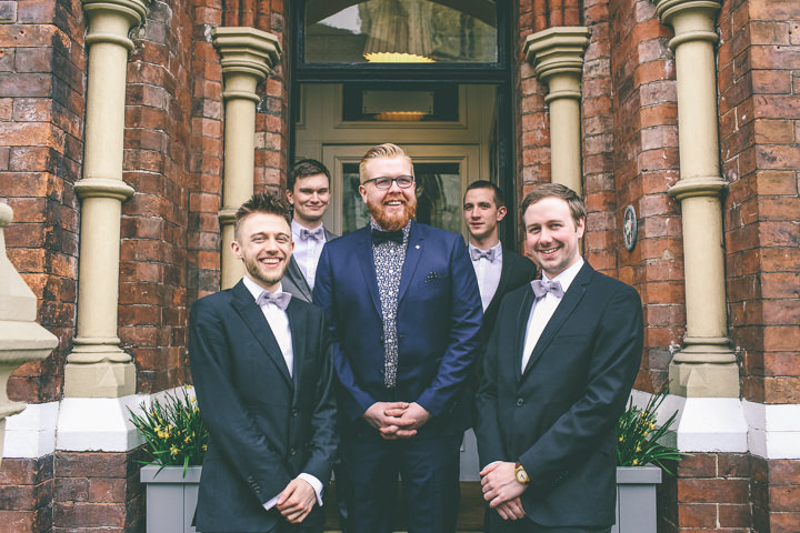 York Wedding groomsmen By Emma Boileau Photography at Merchant Adventure's Hall.