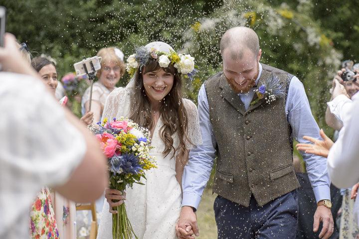 Bohemain Handfasting Wedding confetti By Kit Fraser Photography