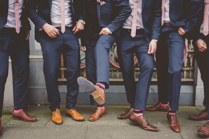 Wedding at Great John Street in Manchester groomsmen By Lottie Elizabeth Photography