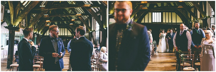 York Wedding brides arrival By Emma Boileau Photography at Merchant Adventure's Hall.