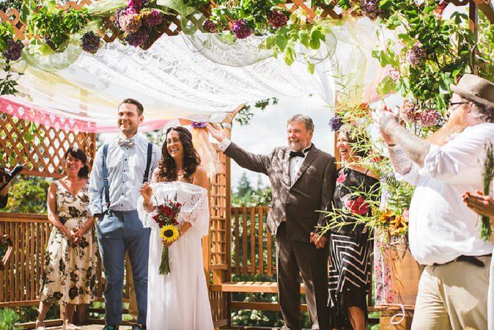 Bohemain Backyard Wedding ceremony By K Good Photo