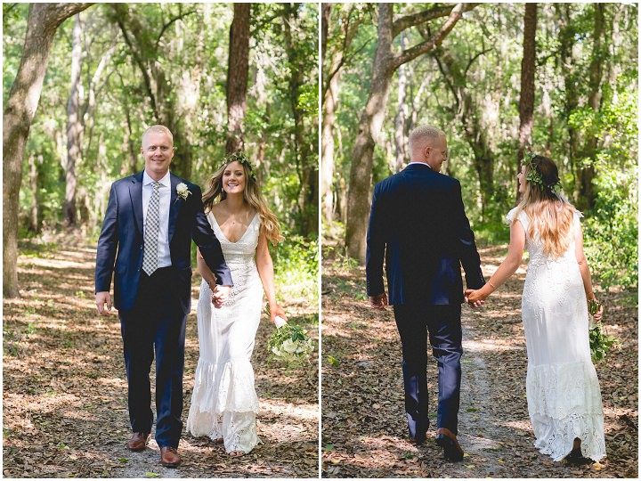 Backyard Florida Wedding with a BHLDN Dress