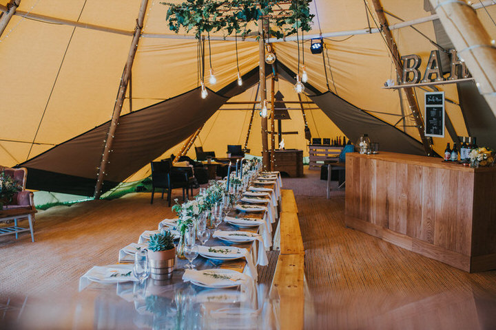 Industrial Meets Botanical Tipi Inspiration