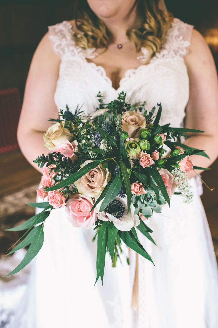 York Wedding bouquet By Emma Boileau Photography at Merchant Adventure's Hall.