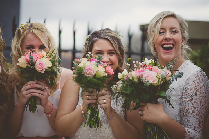 Wedding at Great John Street in Manchester bridesmaids By Lottie Elizabeth Photography