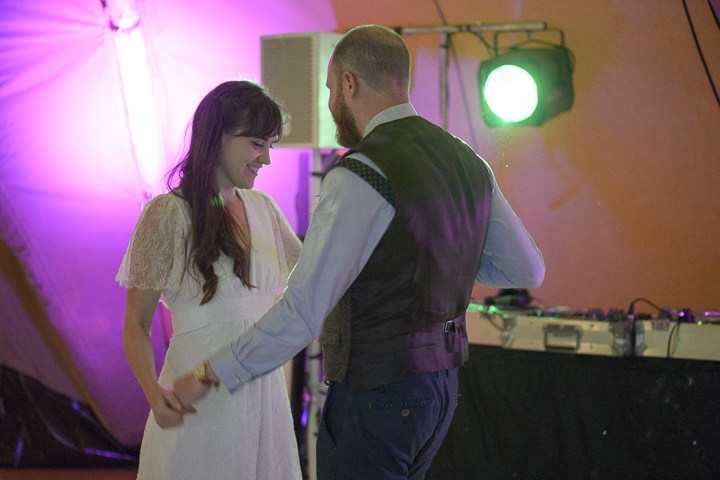 Bohemain Handfasting Wedding first dance By Kit Fraser Photography