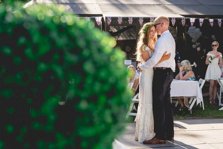 Backyard Florida Wedding with a BHLDN Dress