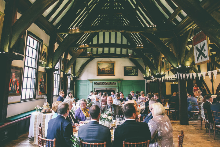 York Wedding reception By Emma Boileau Photography at Merchant Adventure's Hall.
