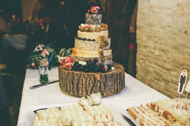 York Wedding cheese cake By Emma Boileau Photography at Merchant Adventure's Hall.